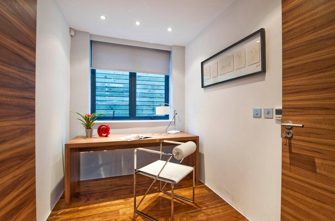 Оформление небольшого кабинета в стиле модерн