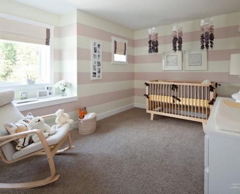Серый ковер в детской комнате