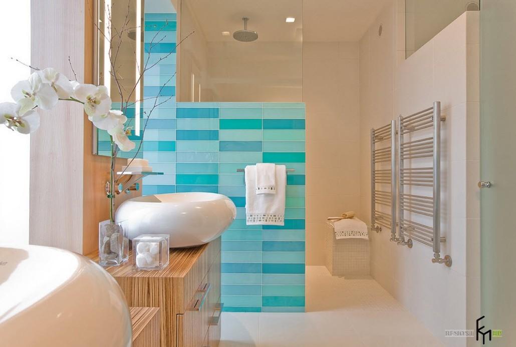 Плитка в ванную комнату бирюзовая дизайн