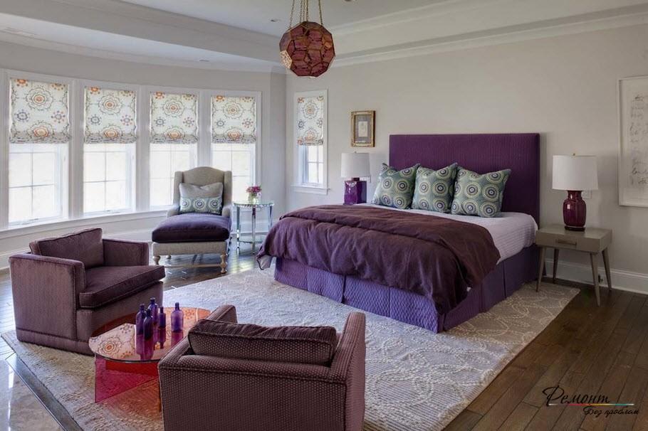 Сочетание с фиолетовым цветом