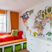 Цветная карта мира на фотообоях