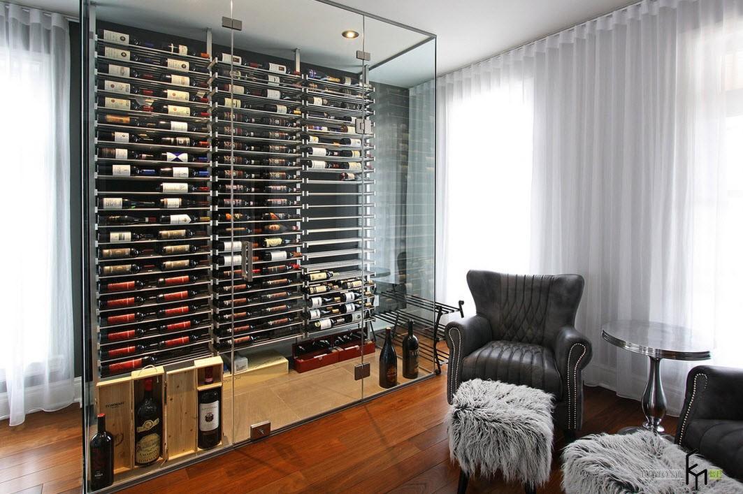 Компактный способ размещения домашнего винного склада