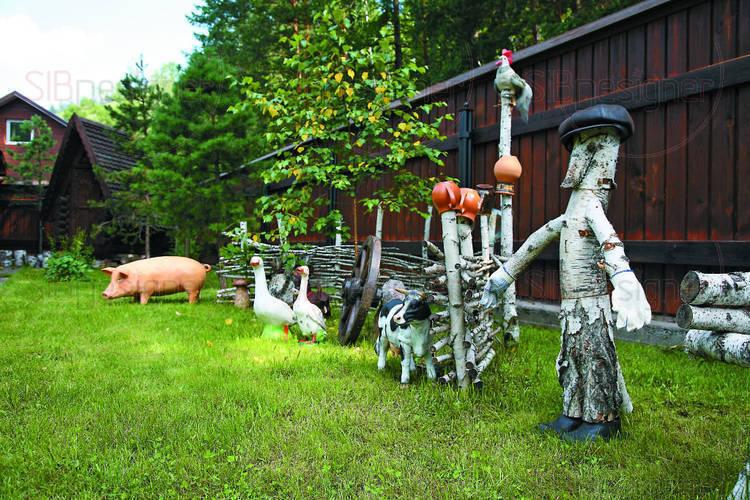 ландшафтный дизайн деревенского двора модели теплого термобелья