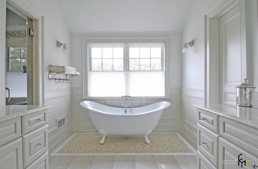 Уютная ванная без унитаза: свет, цвет и