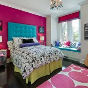 Яркая розовая комната для девочки
