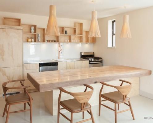 Свисающие плетеный 3 светильника в кухне