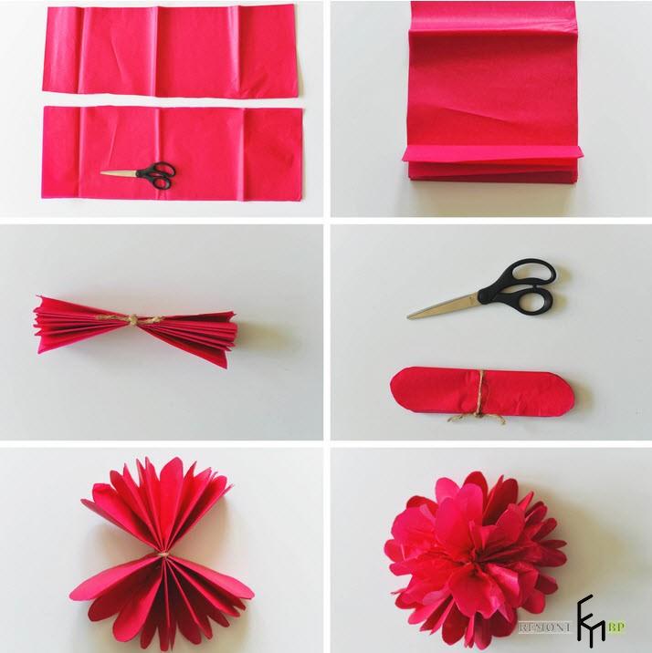 Как сделать красивый бумажный цветок 6