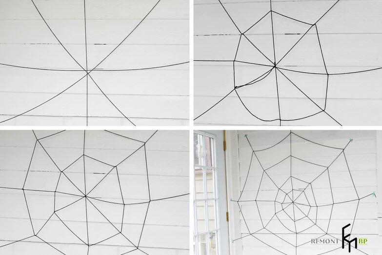 Изготовление декоративной паутины - 3