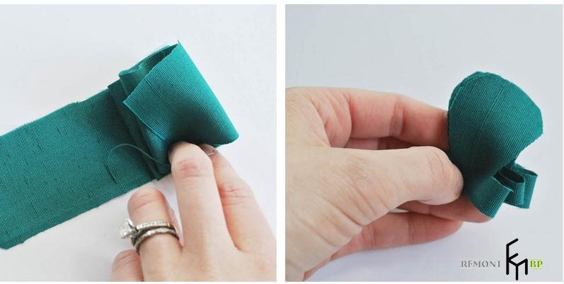 Делаем гармошку из тканевой полоски