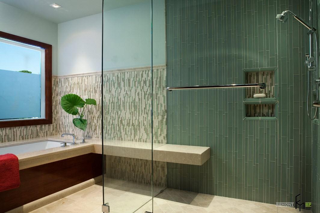 Кафельная плитка в интерьере ванной: лучшие комбинации и варианты