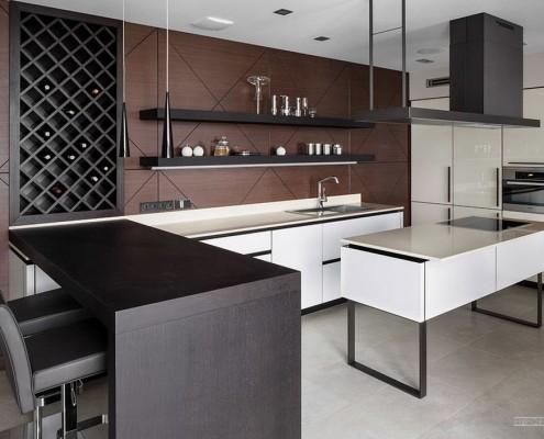 Деревянные элементы в кухонной мебели