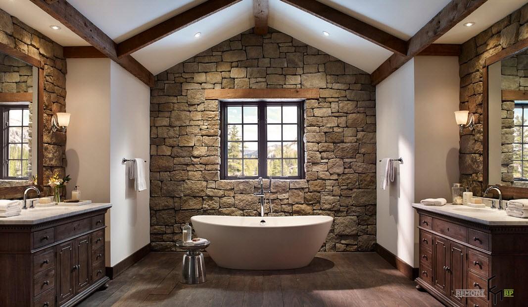 30 лучших идей отделки камнем загородного дома на фото