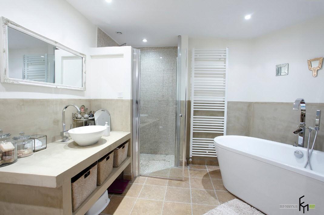 60 for Salle de bain chaleureuse