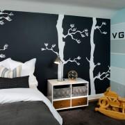 Монохромные фотообои вспальне