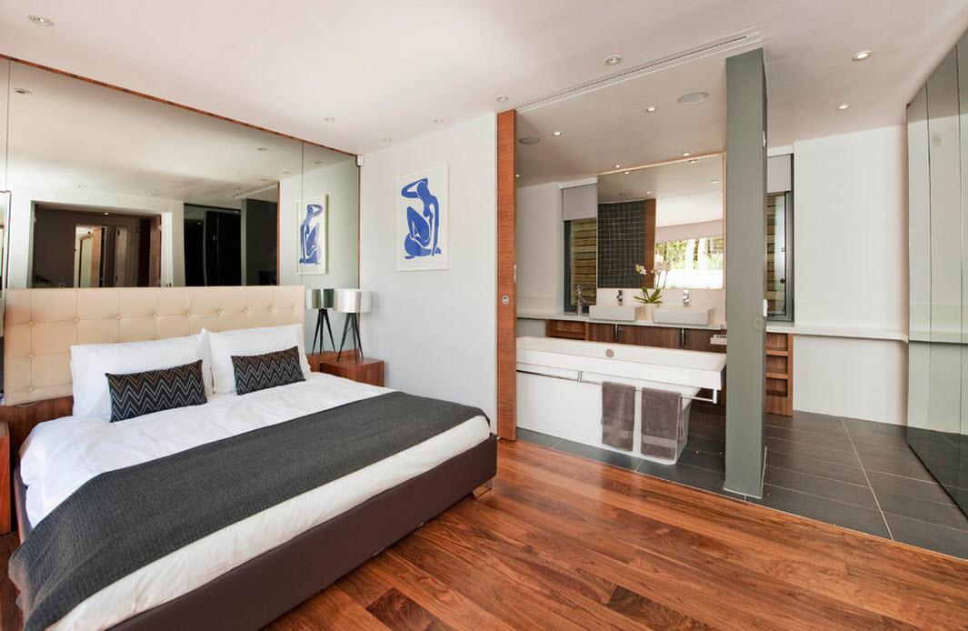 Кровать в контрастных цветах