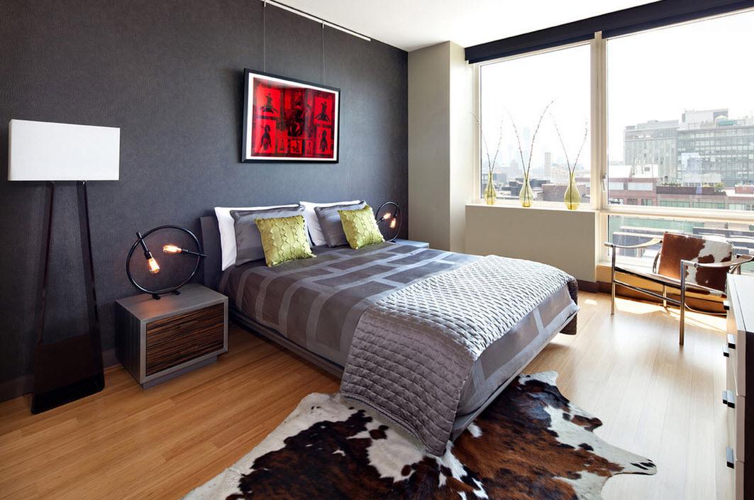 Использование серого цвета в спальне