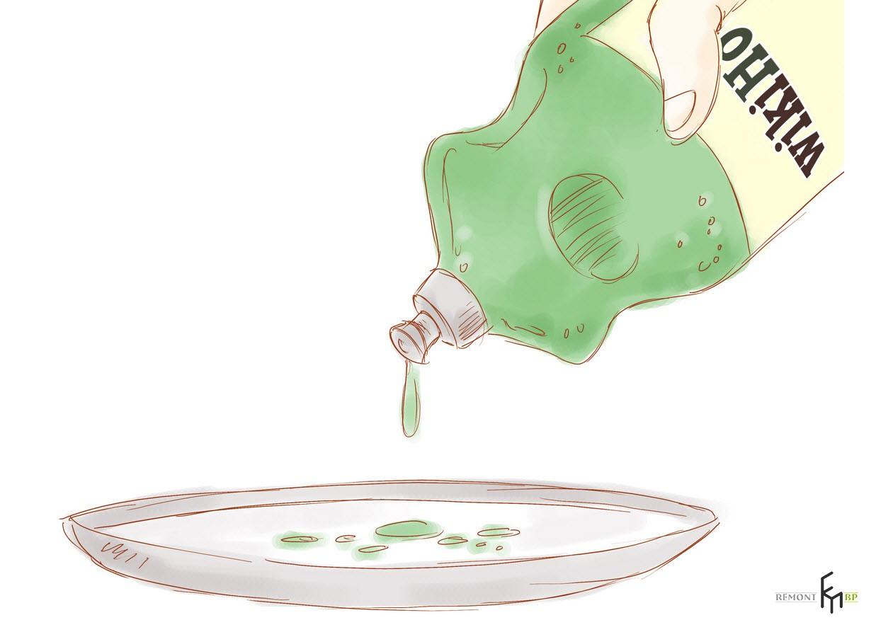 Смесь воды и моющего средства