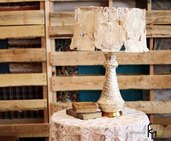 Красивый абажур в винтажном стиле своими руками, Оригинальный декор