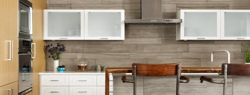 Плитка на кухне Дизайн кухни в русском