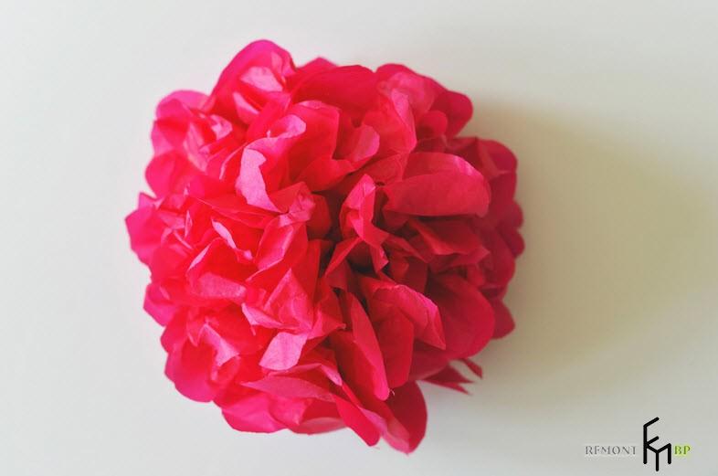 Изготовление декоративных искусственных цветов -4