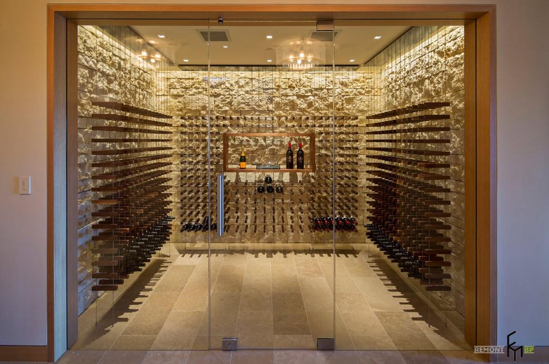 Стены хранилища для вин