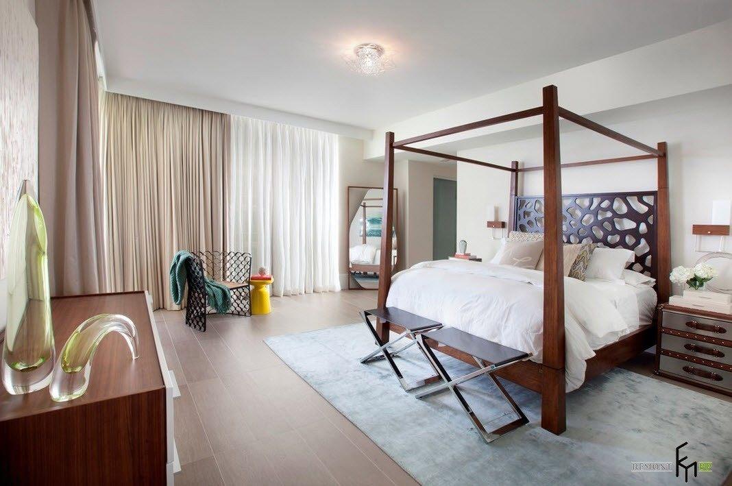Светлые оттенки для интерьера спальни
