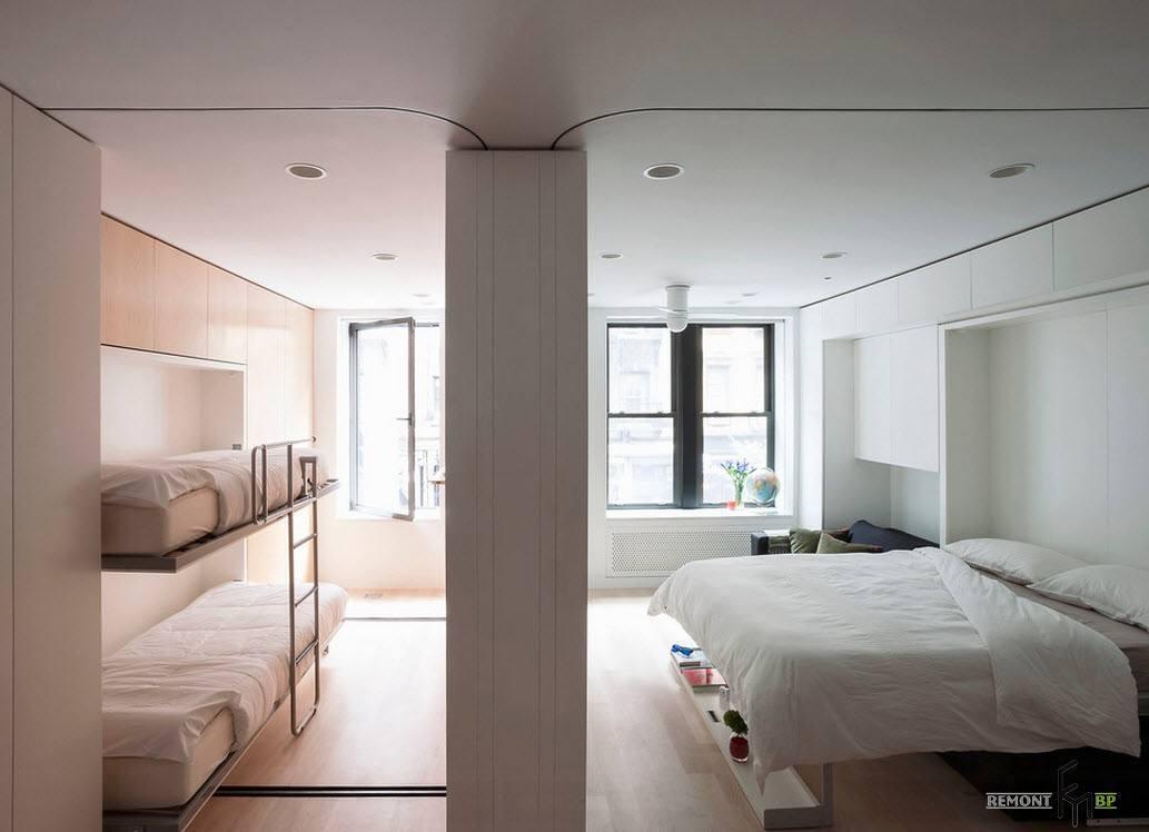 Спальня на две зоны