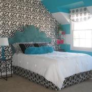 спальня юной леди в голубых тонах