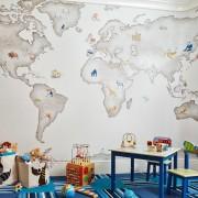 Карта мира в детской