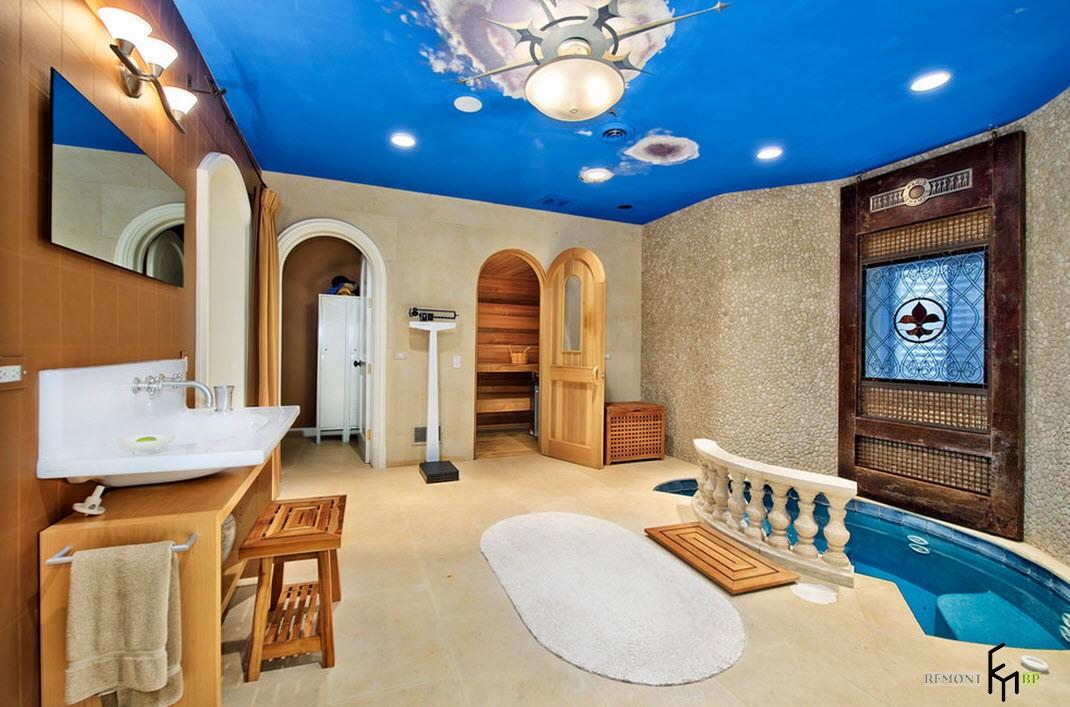 Яркая ванна-сауна