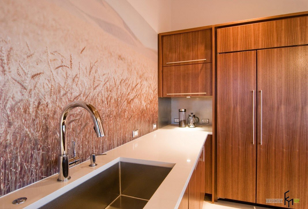 100 лучших идей дизайна обоев для кухни: красивый ремонт на фото
