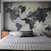 Имитация карты мира на фотообоях