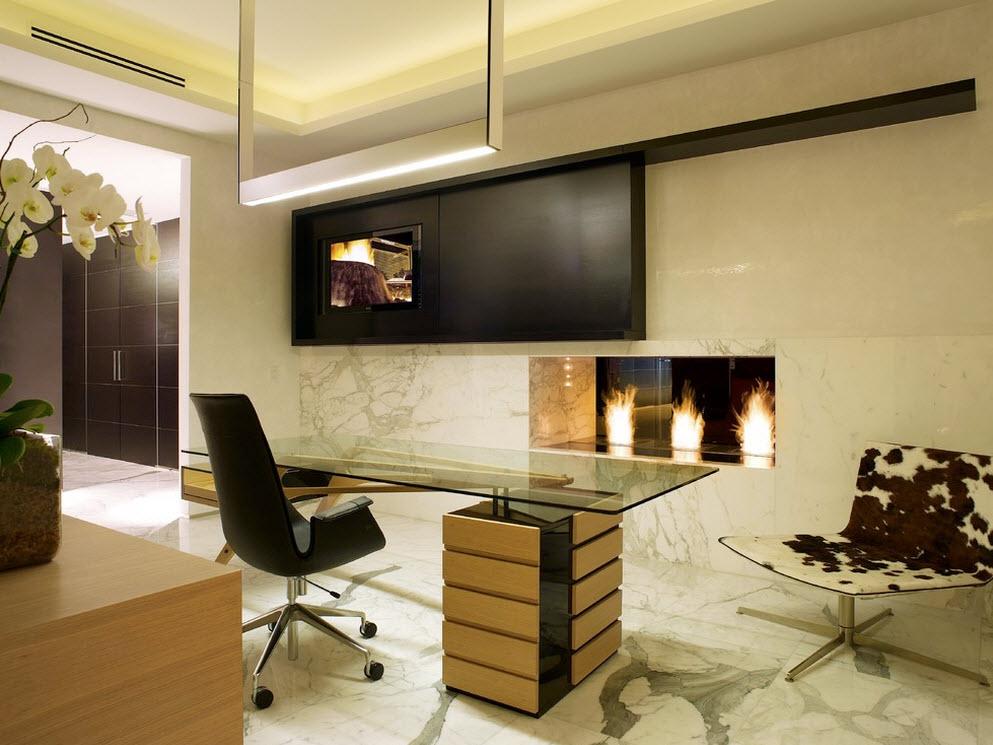 Оригинальное освещение кабинета