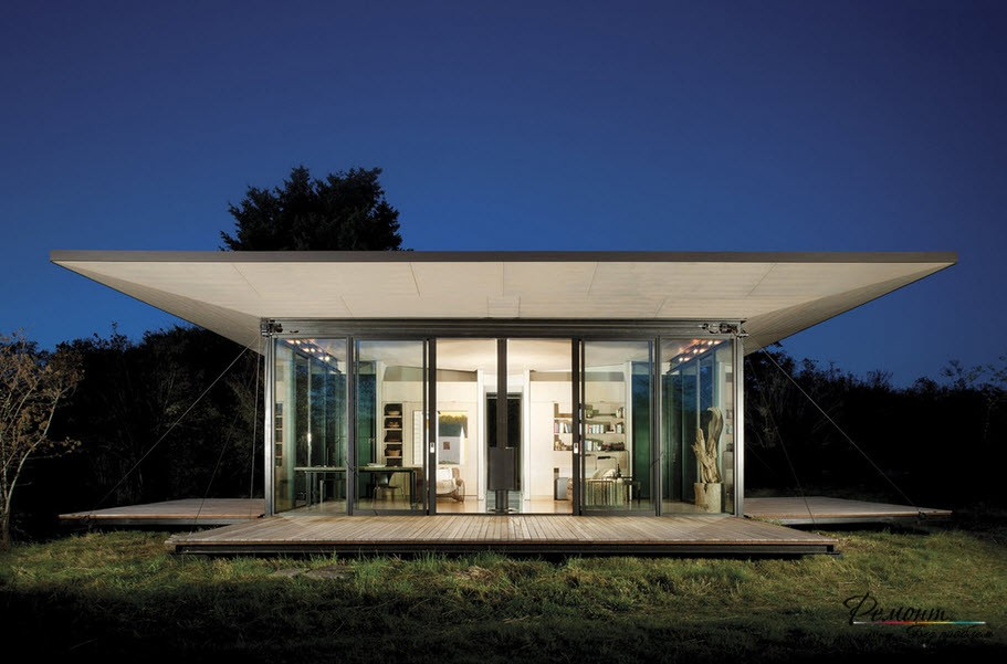 Дизайн дома на поляне