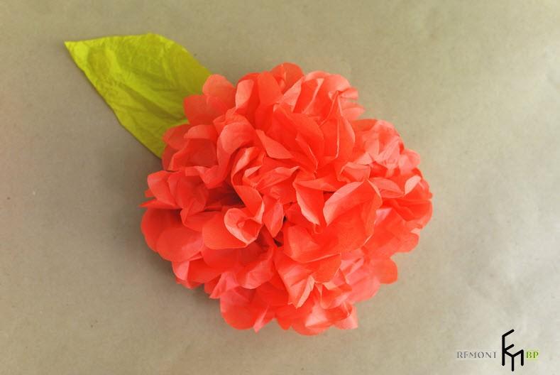 Изготовление декоративных искусственных цветов -5