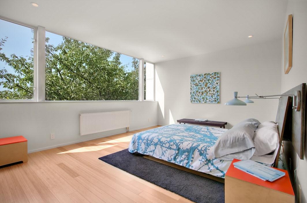 Яркие детали декора спальни