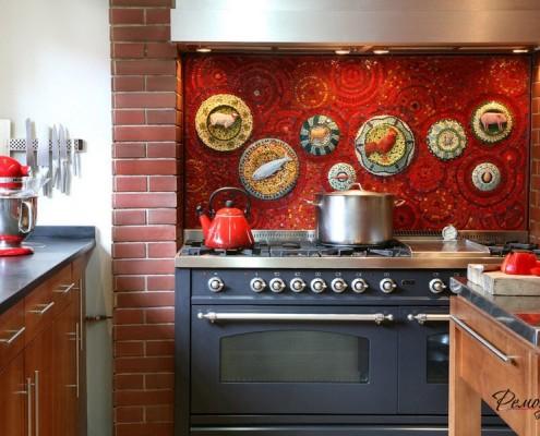 Необычная мозаика для кухни
