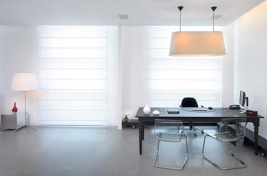 Светлые цвета в интерьере кабинета