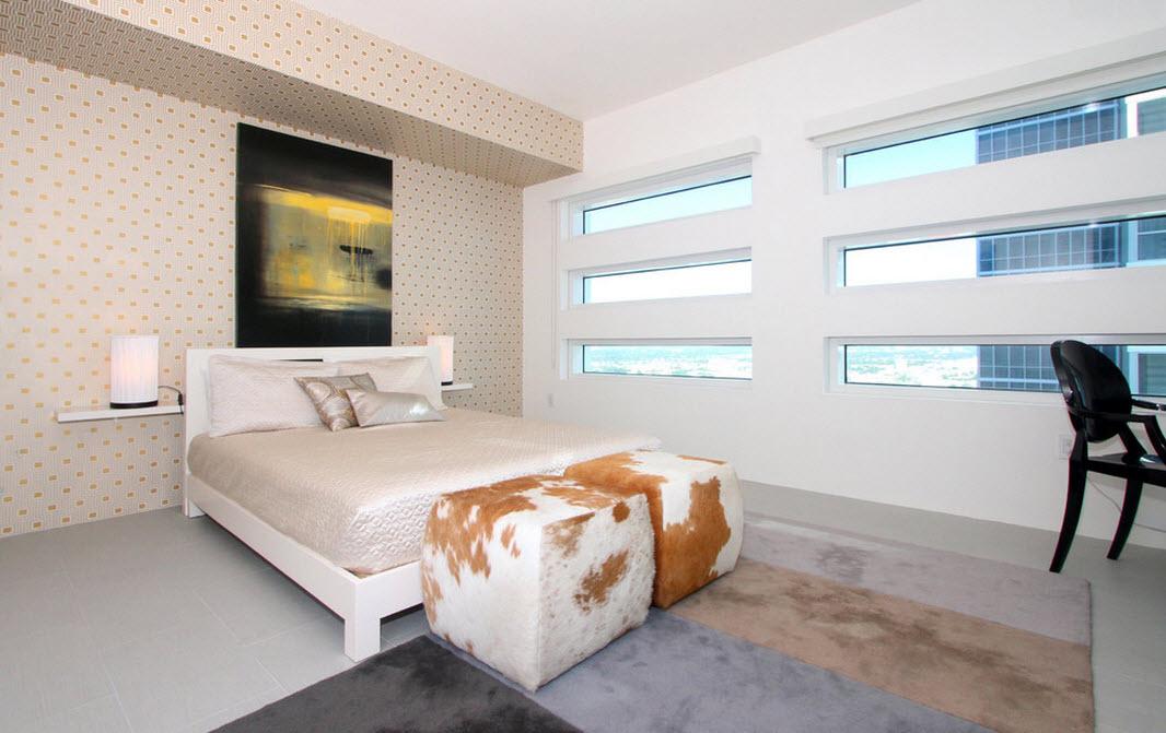 Необычные окна в спальне