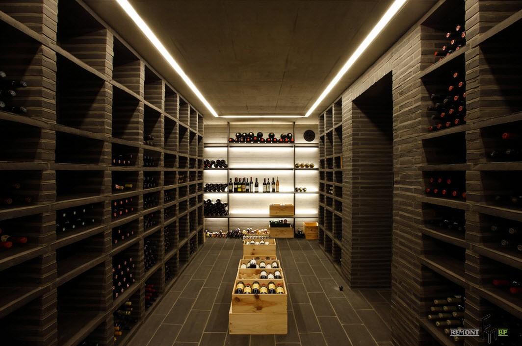 100 лучших идей дизайна винного погреба: полки, стеллажи на фото