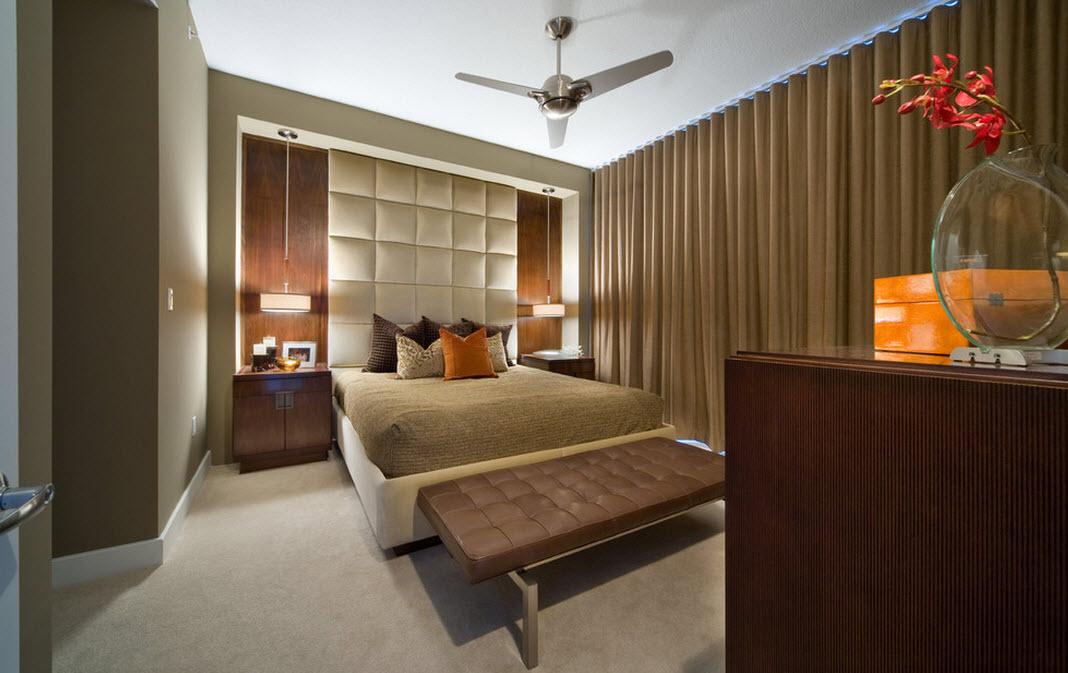 Оттенки коричневого в спальне
