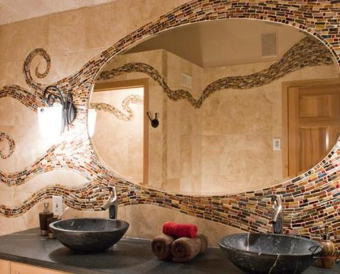 Каменные раковины в ванной