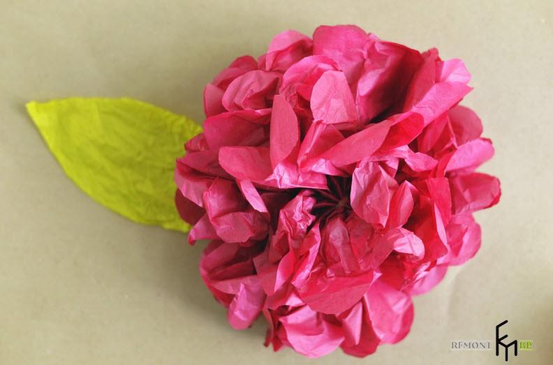 Изготовление декоративных искусственных цветов -6