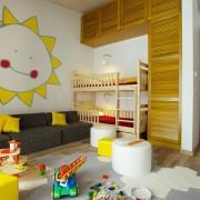 Детская комната с желтыми элементами
