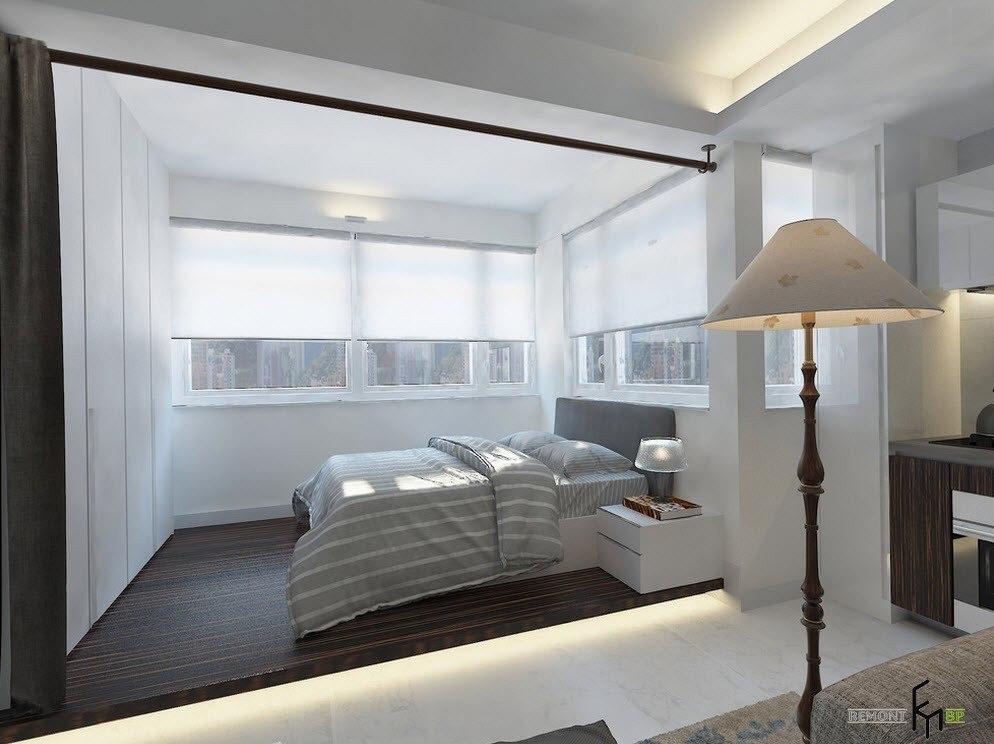 Спальня за шторою