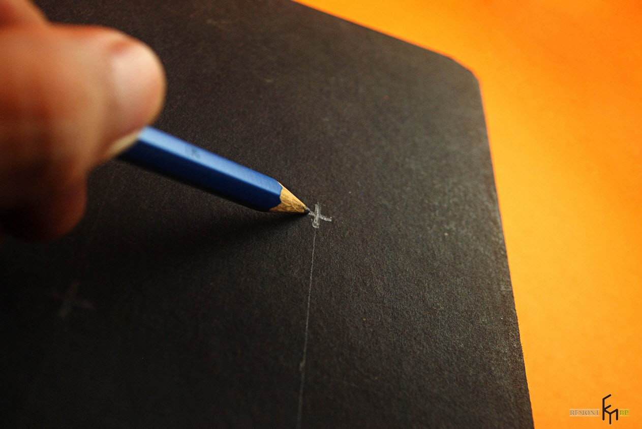 Разметка карандашом на переплете