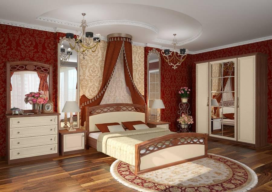Исторические стили в спальной комнате