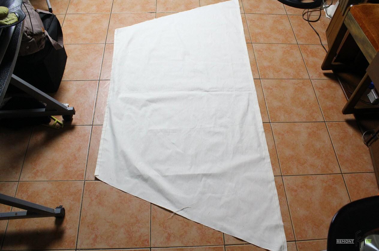 Третий шаг третьего этапа изготовления кресла-гамака