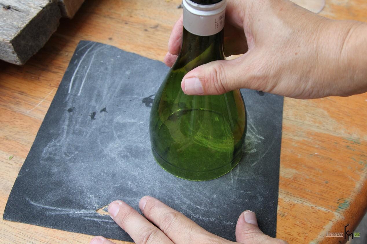 Седьмой этап изготовления колбы для свечки