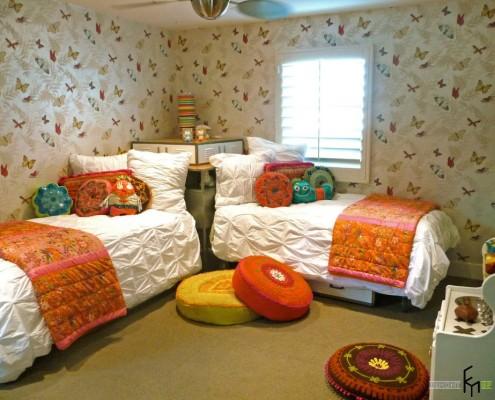 Угловой вариант расположения спальных мест